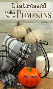 styrofoam pumpkins distressed dollar store pumpkins with a crackle finish farmhouse