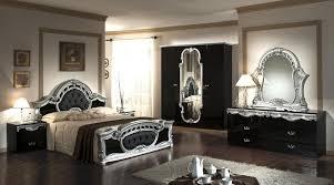 Nova Interiors Rococo Italian Classic Black Silver Bedroom Set Nova Interiors