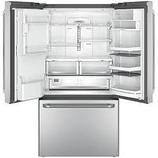Counter Depth Stainless Steel Refrigerator French Door - ge cafe series cye22ushss 22 2 cu ft counter depth french door