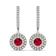 ruby drop earrings ruby earrings