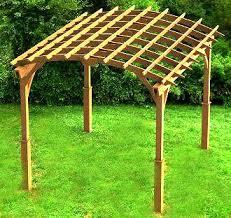 pergola with gable roof building plans diy backyard
