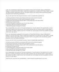 job application letters for chef 9 free word pdf format