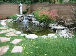 exteriors garden pond ideas artiques backyard fountain fish loversiq