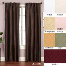 108 Inch Panel Curtains Softline Shire Pintuck Taffeta 108 Inch Curtain Panel Free