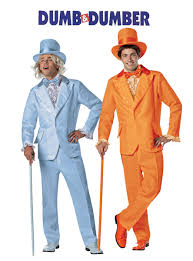 dumb and dumber costumes orange tuxedo and light blue tuxedo costume official dumb and