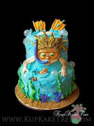 kid swimming cake par kupkake tree kids activity pinterest
