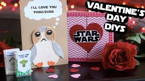 wars valentines day diy wars valentines day gifts porg card chocolates more