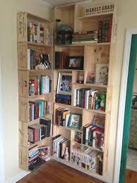 drunkard u0027s bookshelf crate bookcase and crates