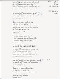 The Sweet Home Sheets Guitar Gear Reviews Thinking Out Loud Chords And Lyrics