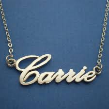 personalized name necklace sterling silver custom carrie style personalized name necklace sterling silver