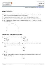 grade 9 kangaroo printable worksheets online practice online