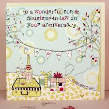 Marriage Cards Messages Wedding Anniversary Gift For Daughter And Son In Law Lading For