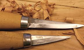 my wood carving knives mora of sweden 106 and 120