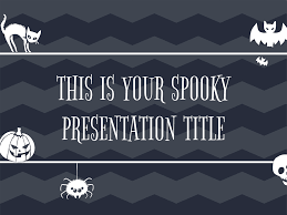 halloween logo black background black presentation template