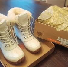 ugg boots in womens size 12 18 ugg shoes ugg s adirondack ii white boot