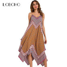 tribal dress tribal print women dress summer 2017 fashion asymmetrical