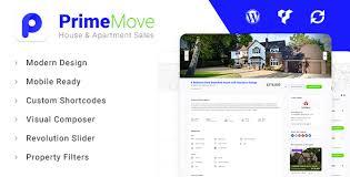 primemove real estate property wordpress theme