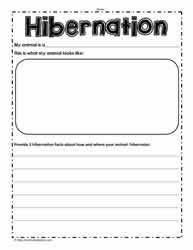 hibernation worksheetsworksheets