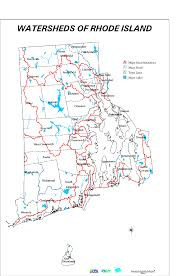 Map Note Rhode Island Watershed And Floodplains
