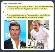 Memes Factory - the memes factory show with gordon ramsey and simon cowell the