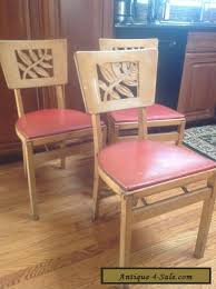 Stakmore Folding Chairs Vintage 3 Vintage Stakmore Mid Century Modern Wooden Folding Chairs For