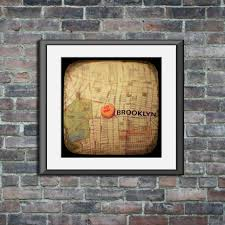 i love you brooklyn candy heart map art ttv unframed photo