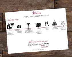 Wedding Itinerary For Guests Wedding Itinerary Cards Wedding Timeline Weddings Wedding