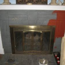 Floating Fireplace Mantels by Favored White Painted Fireplace Mantel Also Brick Wall Panels As