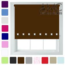 Thermal Blackout Blinds Blackout Roller Blinds With Square Eyelet Free Cut To Size
