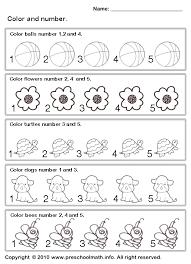 free preschool coloring number worksheets