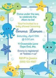 baby shower beach theme invitation printable invitation