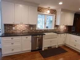 brick tile backsplash kitchen brick tiles for backsplash in kitchen kitchen design