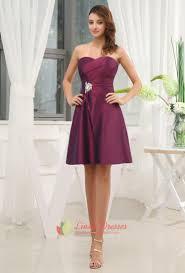dark purple bridesmaid dresses summer wedding purple cocktail