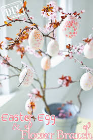 party decor diy easter egg flower branch top easy craft design for cheap