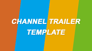 channel trailer template after effects cs6 free download edit