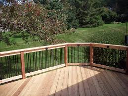 building a freestanding deck railing considerations for safety