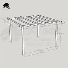 Lean To Pergola Kits by Pergola Kits Garden U0026 Patio Ebay