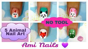 no tool nails tutorial 5 animal nail art for short nails ami