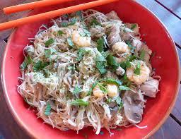 cuisiner vermicelle de riz vermicelles de riz à la dinde et aux crevettes gourmicom