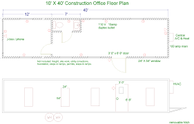 Construction Floor Plans Floor Plans For Jobsite Trailers