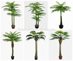 real looking 2 trunks artificial palm tree real touch palm leaf