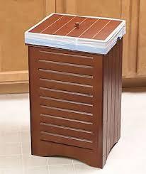 Kitchen Garbage Can With Lid by Wooden Kitchen Trash Bin Lid Garbage Can Wastebasket Storage Wood