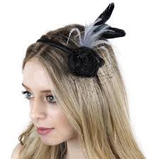 feather headband feather headband embellishment w stripped coque hackle