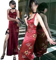 resident evil ada wong cosplay costume make up costume prom dress
