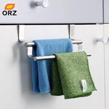kitchen cabinet towel rack orz kitchen cabinet towel rack stainless steel hook type towel bar