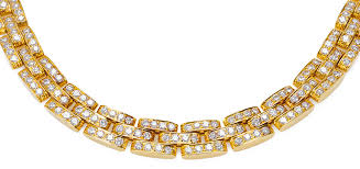 cartier diamonds necklace images Cartier panther 18k yellow gold diamond necklace zadok jpg