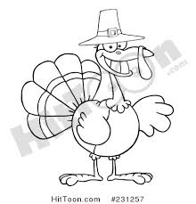 thanksgiving turkey clipart 231257 coloring page outline of a