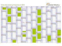 Kalender 2018 Mv Ferien Meck Pomm 2015 Ferienkalender Zum Ausdrucken
