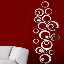 the new design round acrylic mirror wall stickers home decor 3d