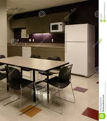 office break room cafe employee kitchen space stock images
